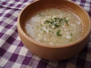 玉ねぎと雑穀のスープ