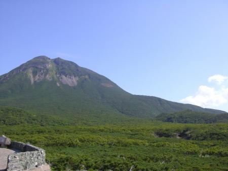 展望台から羅臼岳