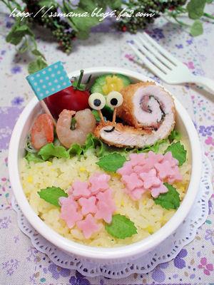 紫陽花のお弁当