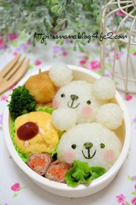 白クマちゃんのお弁当