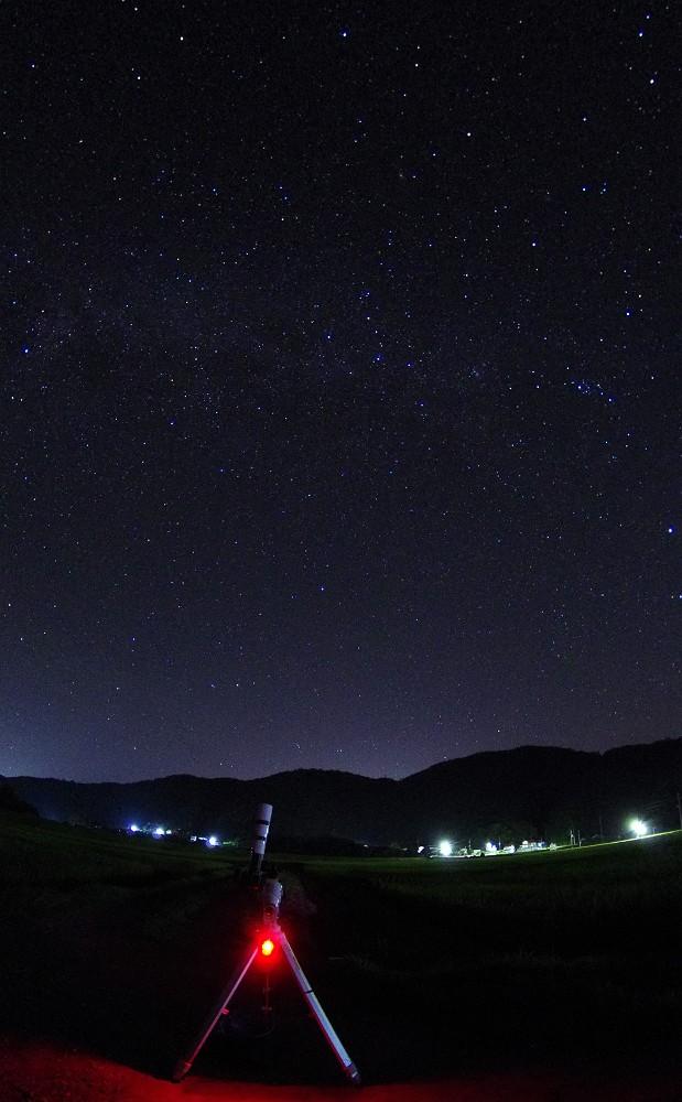 赤道儀と星景