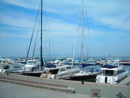 ウラジオストクのヨットクラブ