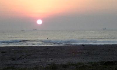 朝焼け太陽