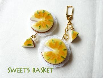 爽やかオレンジムースケーキ完成品
