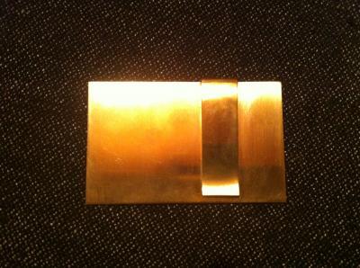真鍮のマネークリップ