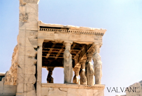 ギリシャ、アクロポリスのエレクティオン神殿