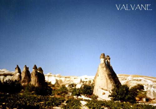 トルコ、ゼルヴェ野外博物館のきのこ岩