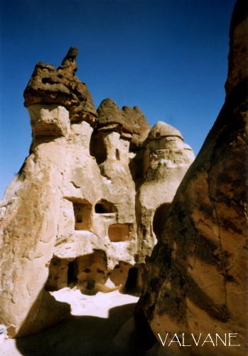 トルコ、カッパドキアの岩窟住居