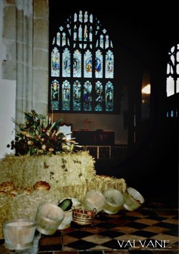 イギリス、チラム村の教会で