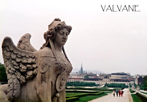 オーストリア、ベルヴェデーレ宮殿の優美なスフィンクス