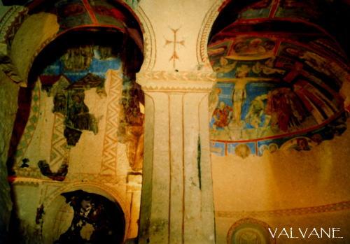 トルコ、岩窟教会のフレスコ画