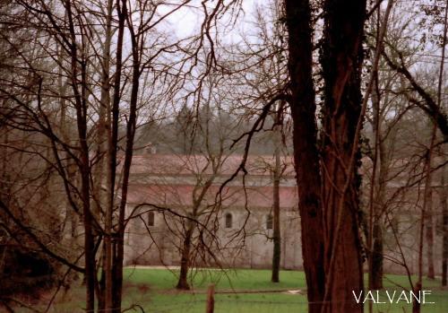 フランス、フォントネー修道院を眺める