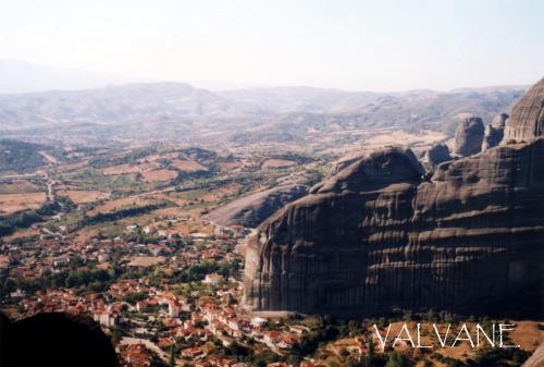 ギリシャ、隠遁所跡から見る風景 カストラキ村側