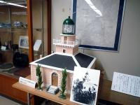 日本初の洋式灯台である初代の観音崎灯台の模型