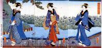 『堀切菖蒲花盛図』三代歌川豊国