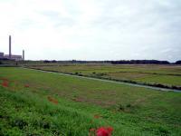 田園風景と西貝塚環境センター