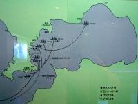 黒船の江戸湾航行図