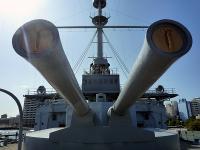 ド迫力の復元主砲