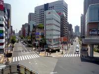 本町通りと市道「幹線 第8号線」