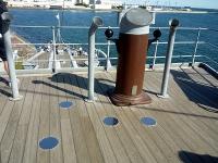 艦橋の立ち位置目印