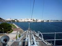 艦橋から見える光景