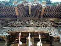 西叶神社社殿装飾