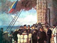 「三笠艦橋の図」に描かれた「Z旗」