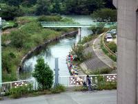 荒川からの放水路