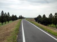 堤防上の荒川自転車道