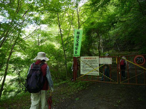 14林道登り口
