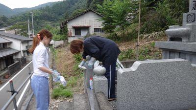 1お墓掃除