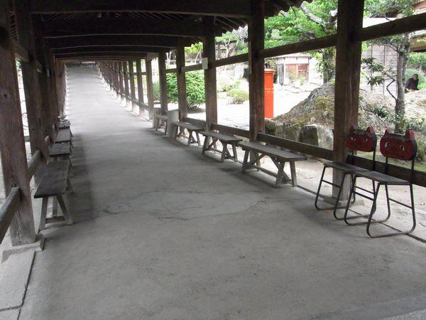 吉備津神社回廊内