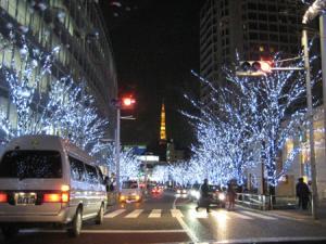 東京タワーが見えた坂
