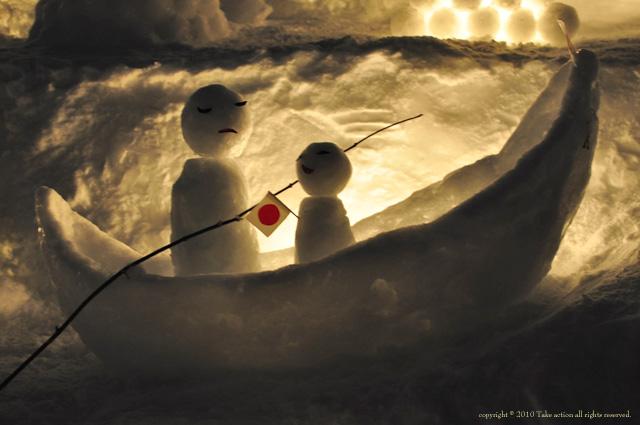 小樽雪あかり雪だるま2