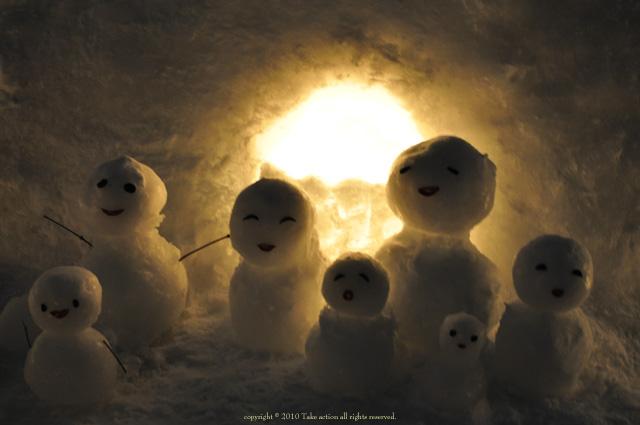 小樽雪あかり雪だるま1