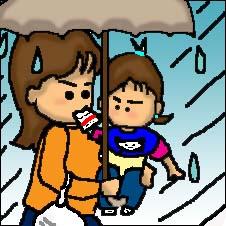雨降りに。
