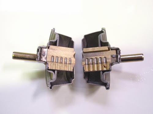 シリンダー錠 ウォータージェット切断加工品