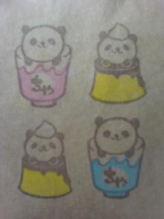 パンダ お茶&プリン