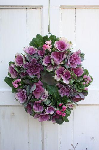 T's Garden Healing Flowers‐ミニハボタンのリース