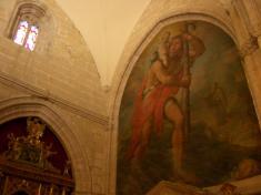 壁画いっぱいの教会。しかもでかい。