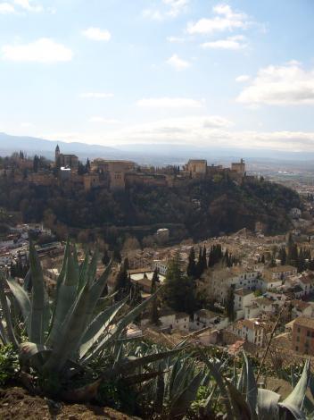 サクロモンテから見たアルハンブラ