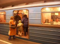 ブダペストの地下鉄。