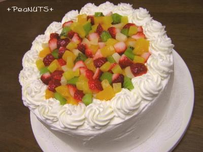 【フルーツデコケーキ】