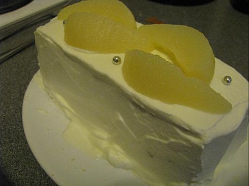 作ったケーキ