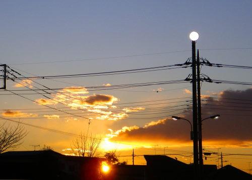 夕陽4時19分