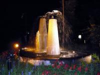 温泉郷入り口の噴水