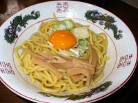 油そば(肉抜き卵)