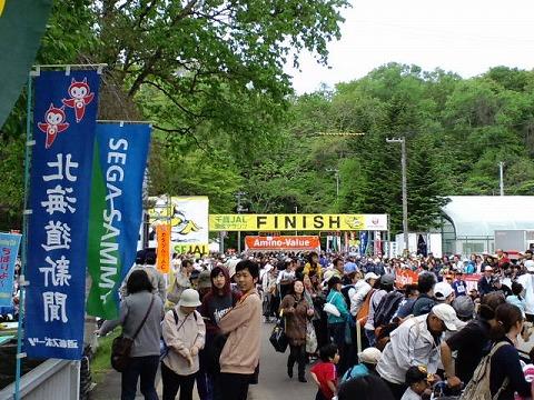 2011JALマラソンゴール