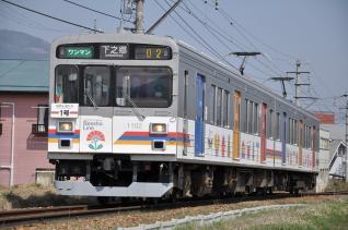 2011年4月18日 上田電鉄別所線 大学前~下之郷 1000系1002F