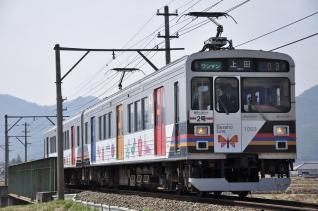 2011年4月18日 上田電鉄別所線 下之郷~大学前 1000系1003F